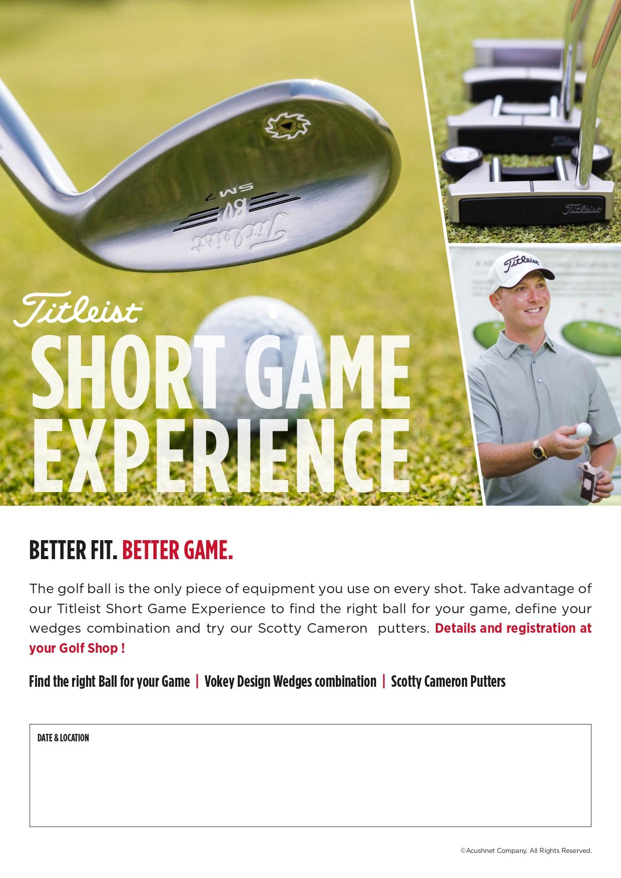 Clinic Golf Short Game